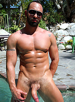 Hung Italian porn star Fabio gets naked outdoors for Ben