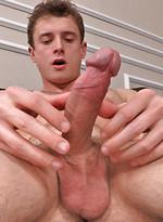 Caleb strokes his dick on camera