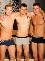 Hot threesome with jocks