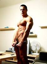 Sexy Glen Santoro shows off his toned body
