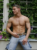 Drago Lembeck strips out of his jeans and underwear
