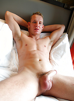 My muscly blond mate Basti can't wait to get off